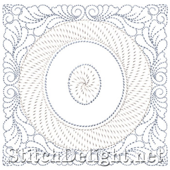 SDS1185 Quilters Block Font O