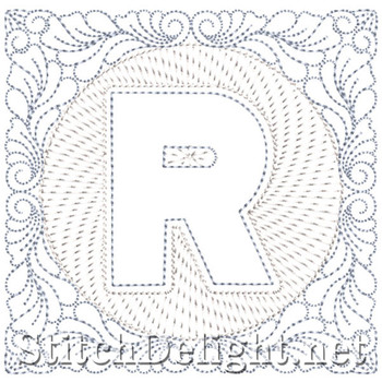 SDS1185 Quilters Block Font R