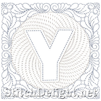 SDS1185 Quilters Block Font Y
