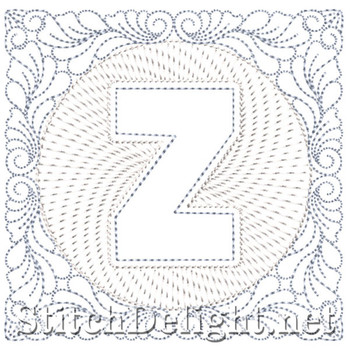 SDS1185 Quilters Block Font Z