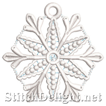 SDS0099 Freestanding Lace Snowflake