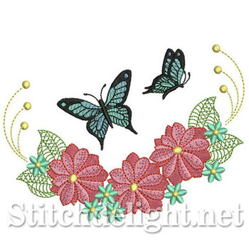 SDS0281 Butterfly Florals