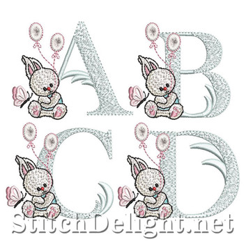 SDS1243 Baby Bunny Font