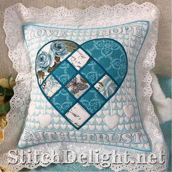 SDS1427 Nordic Heart and Eyelet Lace