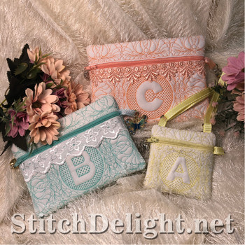 SDS1506 ITH Quilted Zipper Bags 2