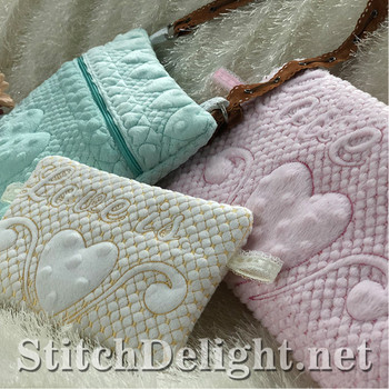 SDS1508 ITH Quilted Zipper Bags 3