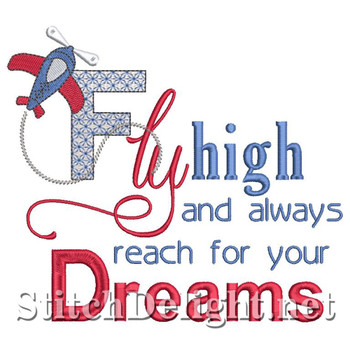 SD1458 Fly High Saying