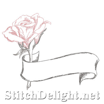SD1326 Rose and Scroll