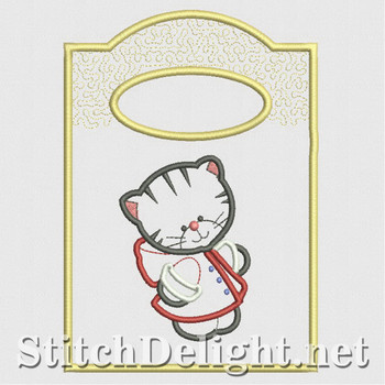 SD1207 Applique Kitty Treat Bags