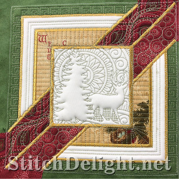 SD1297 Christmas Quilt Tree