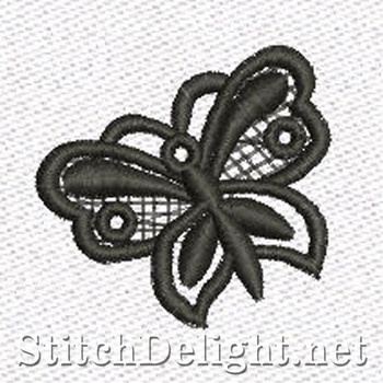 SD1102 Freestanding Lace Tiny Butterfly
