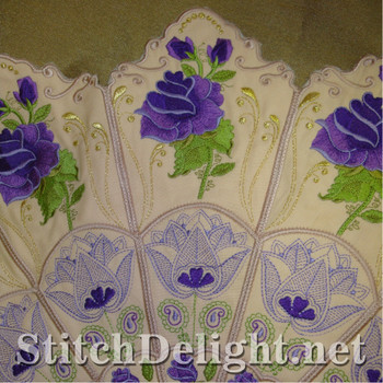 SD1122 Rose Round Table Cloth