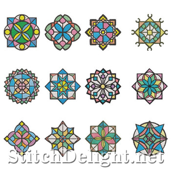 SD1169 Stained Glass Quiltblockes