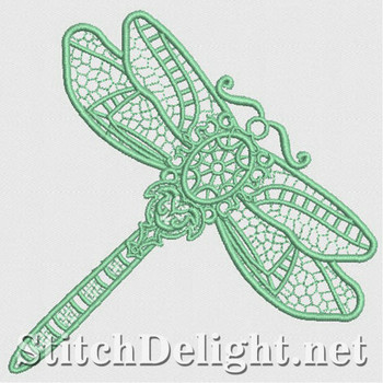 SD1185 Freestanding Lace Dragonfly