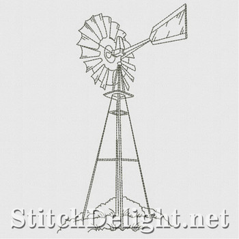 SD1187 Windmills and Lighthouses Redwork