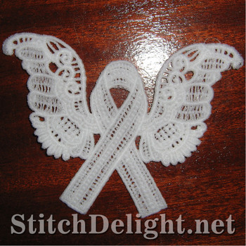 SD0935 Freestanding Lace Cancer Ribbon 1