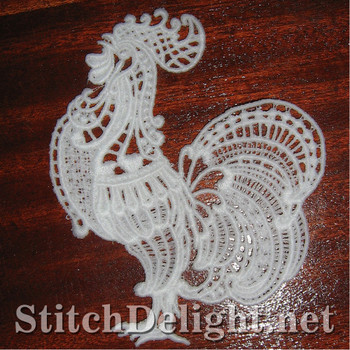 SD0941 Freestanding Lace Rooster