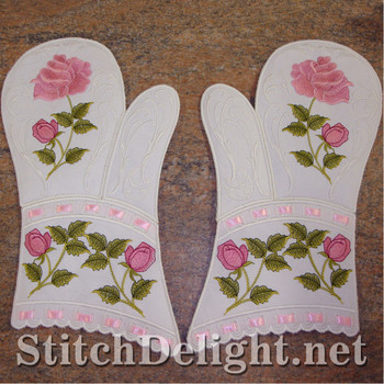 SD0708 Rose Oven Mittens
