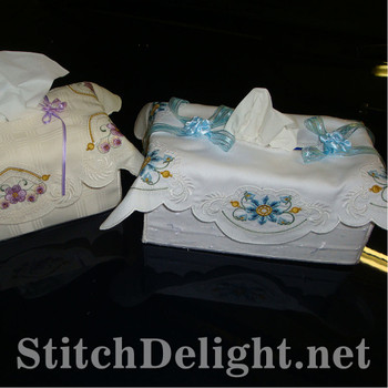 SD0726 Tissue Box Covers 2 Large Hoops