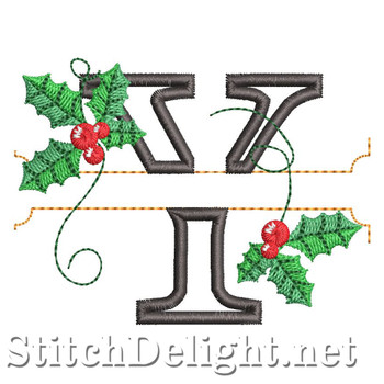 HOE0037 Festive Holly Font Y