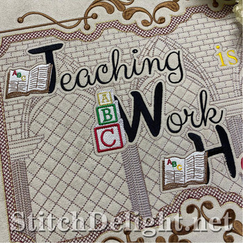 HOE0087 Teacher at Heart Quote
