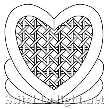 SDS4027 Heart With Weave