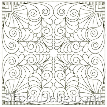 SDS4037 Feather Quilt Square
