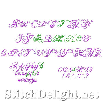SD0530 Elida Font and Numbers