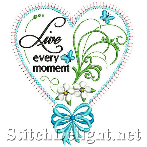 SDS0325 Live Every Moment Heart