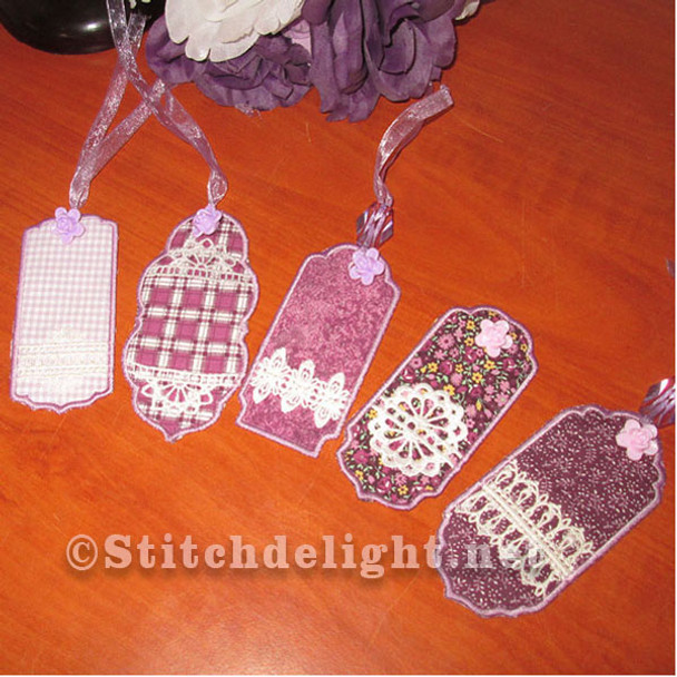 SDS0458 In the hoop Tags - Bookmarks