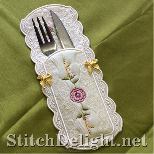 SDS0719 Cutlery Pouch 5x7 Hoop