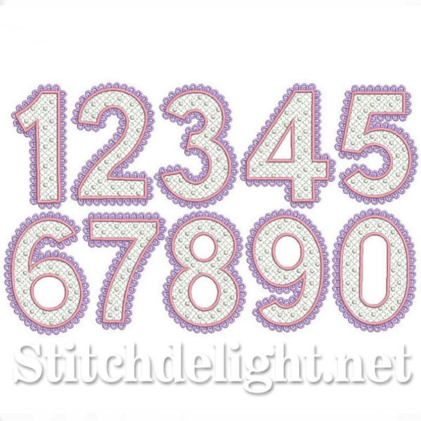 SDS0258 Lace Font Numbers
