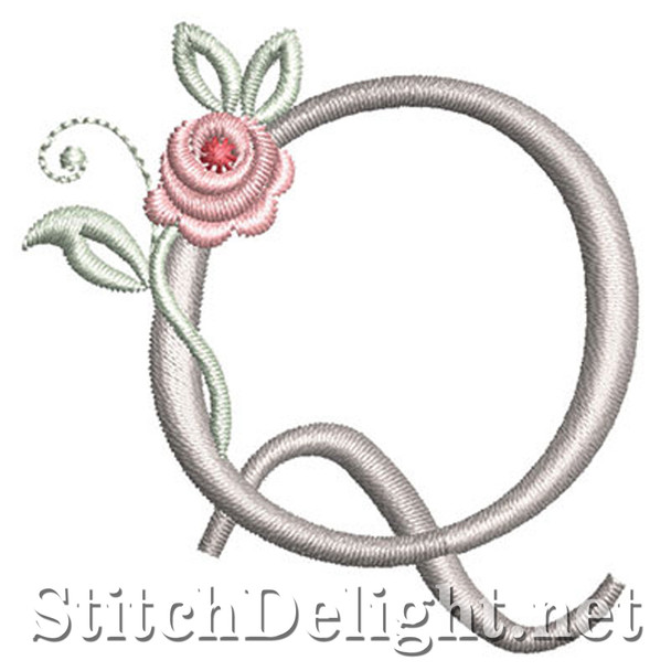 SDS1227 Antique Rose Font Q