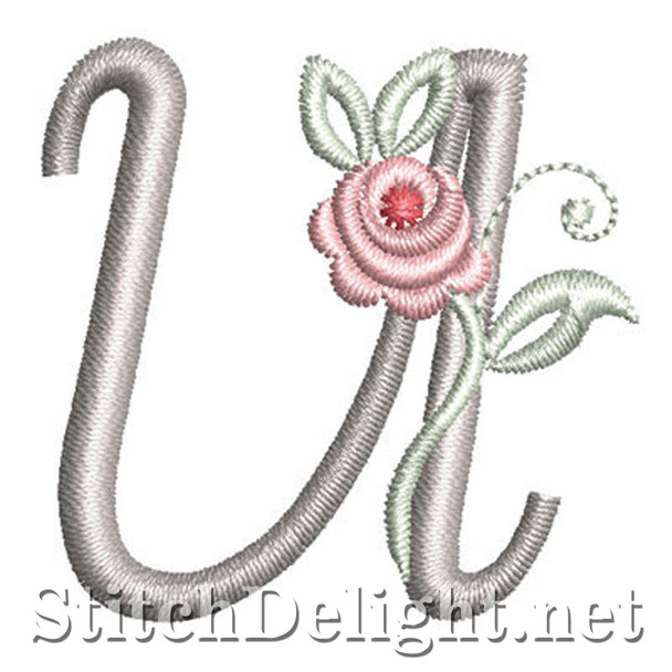 SDS1227 Antique Rose Font U