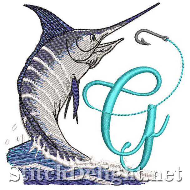 sds1270 Fishing Font G