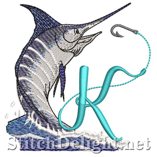sds1270 Fishing Font K