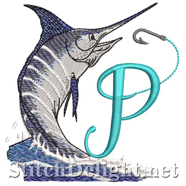 sds1270 Fishing Font P