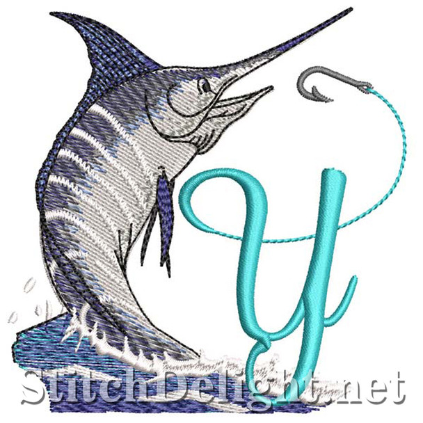 sds1270 Fishing Font Y