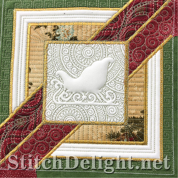 SD1296 Christmas Quilt Sled