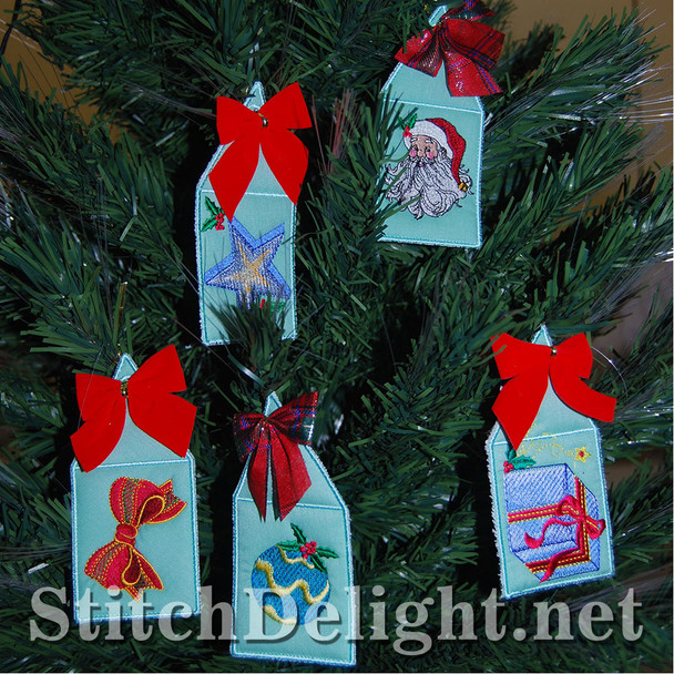 SD0901 Applique Christmas Gift Tags