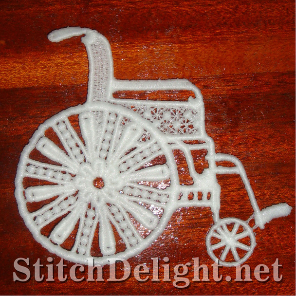 SD0922 Freestanding Lace Wheelchair
