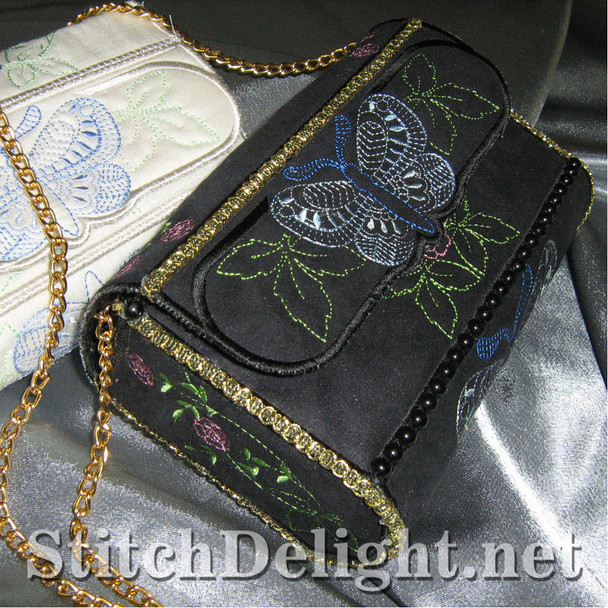 SD0957 Butterfly Romance Clutch Purse