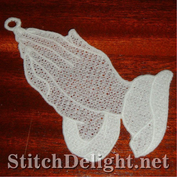 SD0977 Freestanding Lace Praying Hands