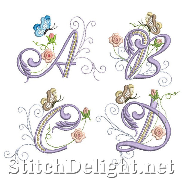 SD0717 Delicate Rose Font