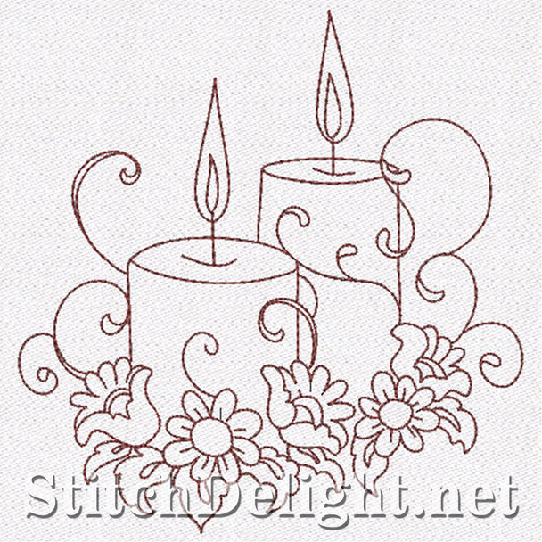 SD0645 Redwork Candles