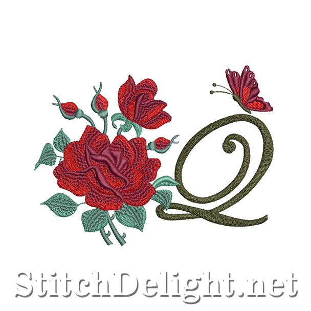 SDS1654 Beautiful Rose Font Q