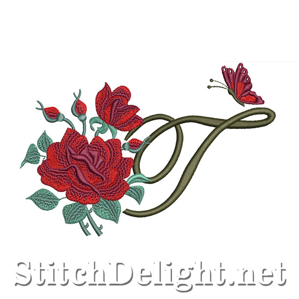 SDS1654 Beautiful Rose Font T