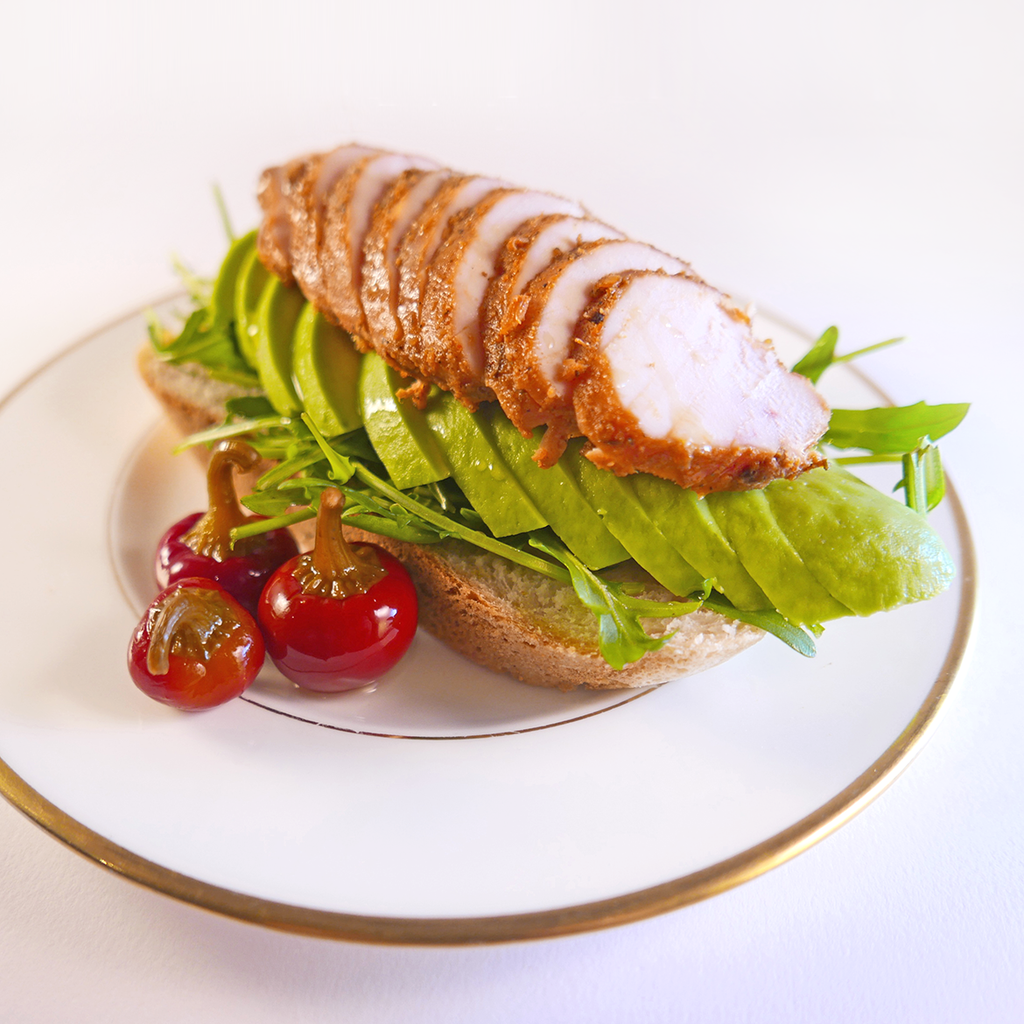 Hurricane chicken open sandwich