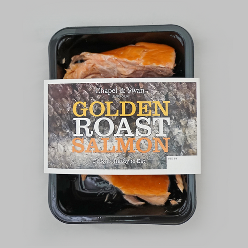 Golden roast salmon pack shot