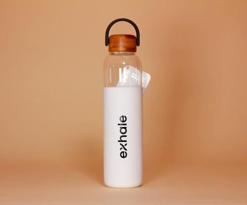 Exhale Glass Water Bottle
